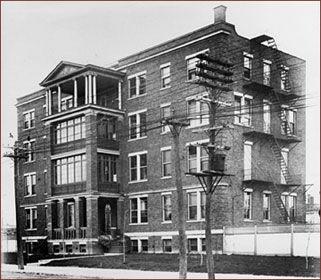 Hôpital Ste-Justine - Photo prise en 1914
