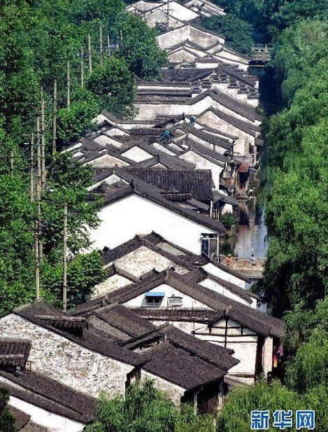 The roofs of a water town in South of Yangtze River, China  shared by All Things…