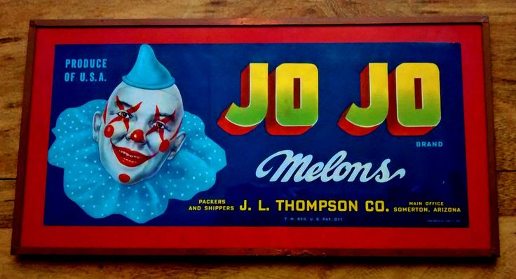 Jo Jo Brand Melons Shipping Crate Label J.L. Thompson Company #CollectiblesByJo #Bonanza http://www.bonanza.com/listings/468920255