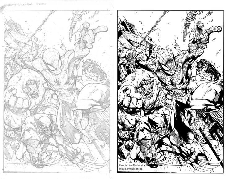 ArtStation - Comic book inking, Samuel Santos