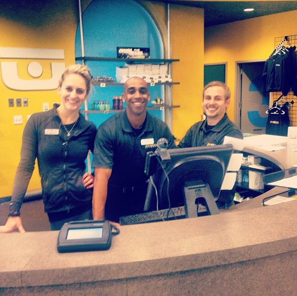 Check out the staff on hand at our SD facility ready to greet you! Chuze Fitness.
