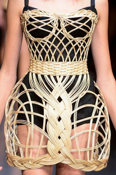 woven basket bustier dress! Dolce & Gabbana Spring 2013