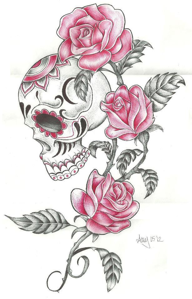 photo skull and roses by amyiza58 d535owj zpsdb020fca jpg