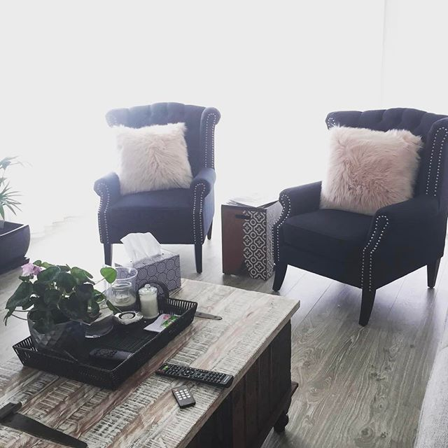 Midnight Blue Royale Wingbacks, all set up in our customers home & looking lovely @grace_yaz76 💕Last chance TODAY to purchase Royale Wingbacks at $498, beat the 2017 price rise, going up to $598 tomorrow! #onsale #wingback #wingbackchair #armchair #lounge #comfort #plush #upholstered #midnightblue #interiordesign #styling #onlineshopping #lovemyblackmango