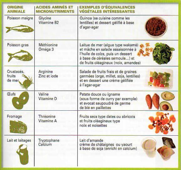 Équivalences végétales protéines 2