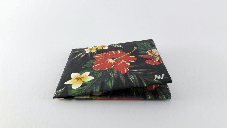 Tropical flowers slim tyvek wallet