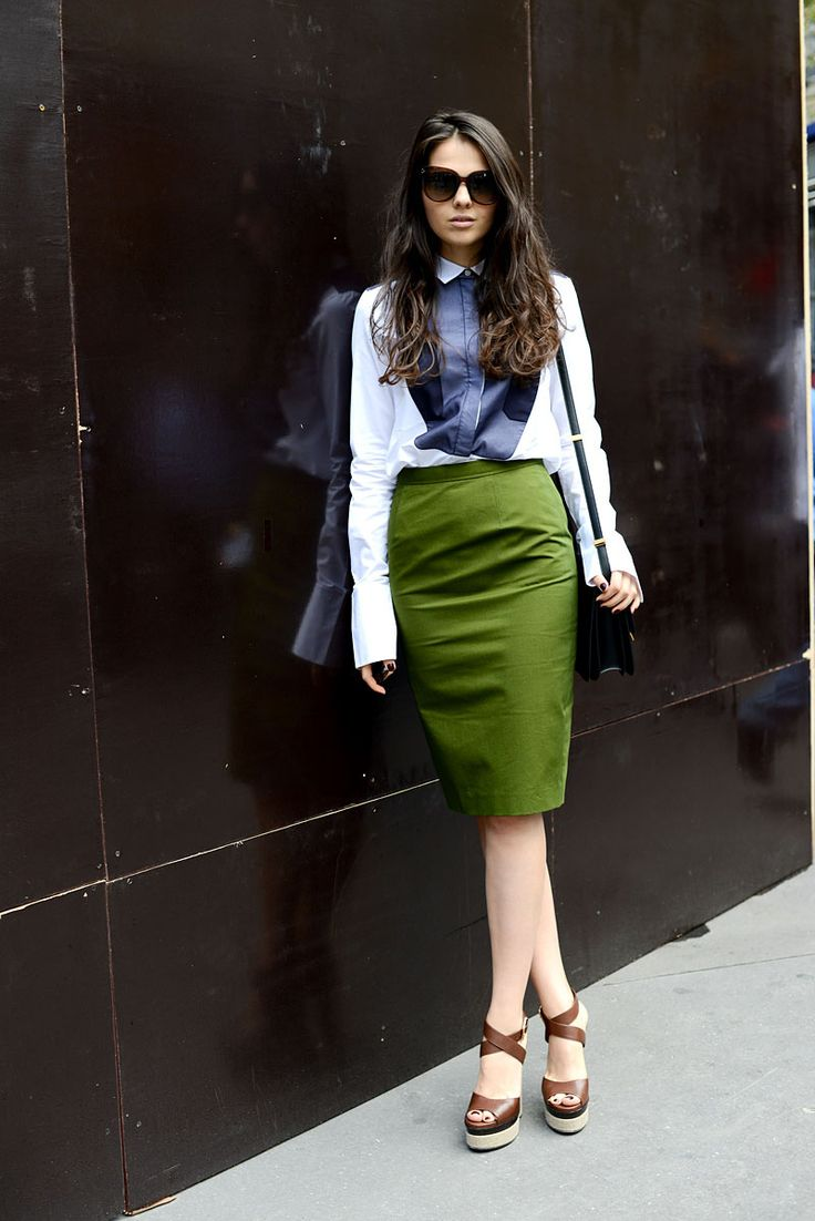 tendencias primavera 2013 falda lapiz pencil skirt street style street wear moda en la calle | Galería de fotos 6 de 30 | Vogue México