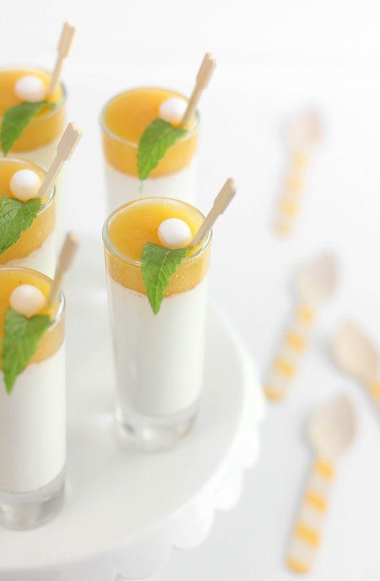 Sprinkle Bakes: Peaches and Cream Panna Cotta Shots and My Favorite Gelatin Alternative
