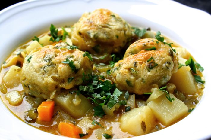 Butter Bean and Root Vegetable Stew with Herby Dumplings 1