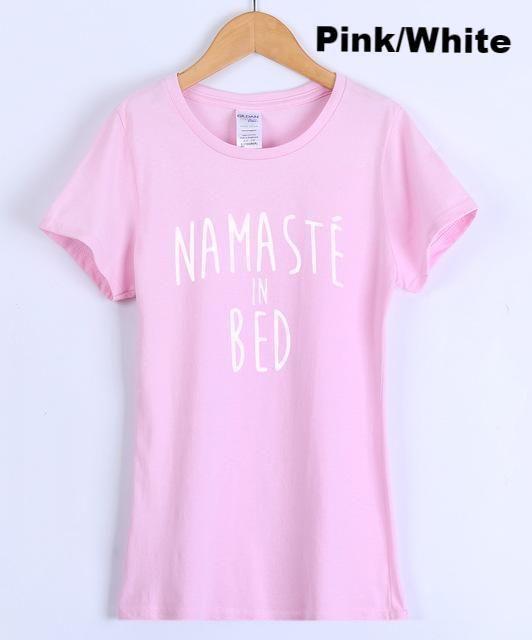 ef203f348 Namaste In Bed Women's T Shirt: Black , Dark Blue, White, Gray ...