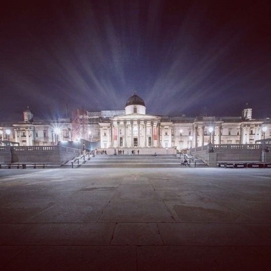The National Gallery at night: http://now-here-this.timeout.com/2013/11/29/47-stunning-photos-of-london-in-november/