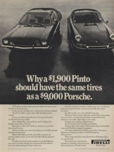 1972 Pirelli Tire Porsche 911 Vintage Advertisement Ad