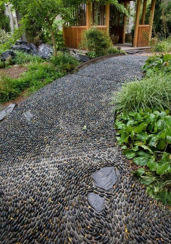 Garden Pebble Stones 105 best black polished pebbles images on pinterest backyard patio f877434b8dc45fbf6b1484567c6a3b31 pebble garden pebble mosaicg workwithnaturefo