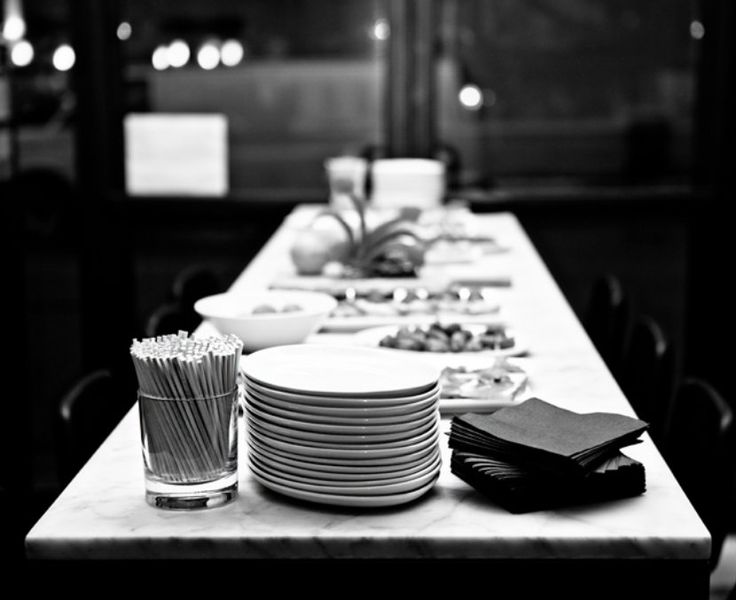 The tables are set and ready, come join us after work for a drink and appetizer! #QueenWest #Food #Toronto