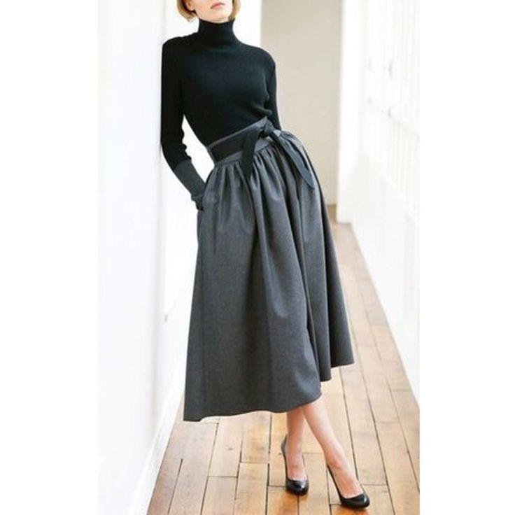 Comment porter la jupe longue en hiver