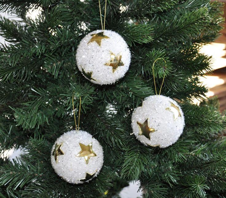 christbaumkugeln weiß gold - Google-Suche