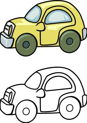 toy car coloring pages printables for kids | Car drawing ...