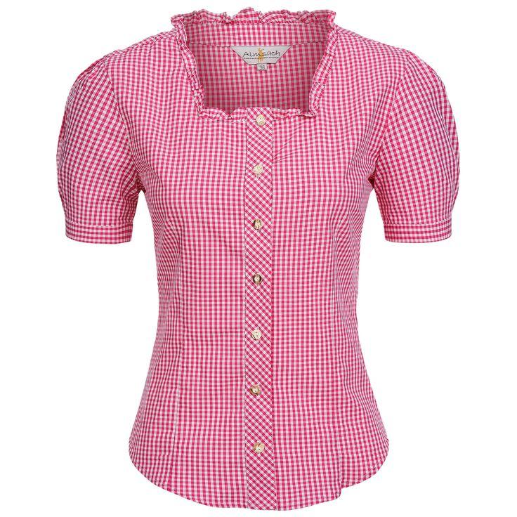 Trachtenbluse Kate in Pink von Almsach