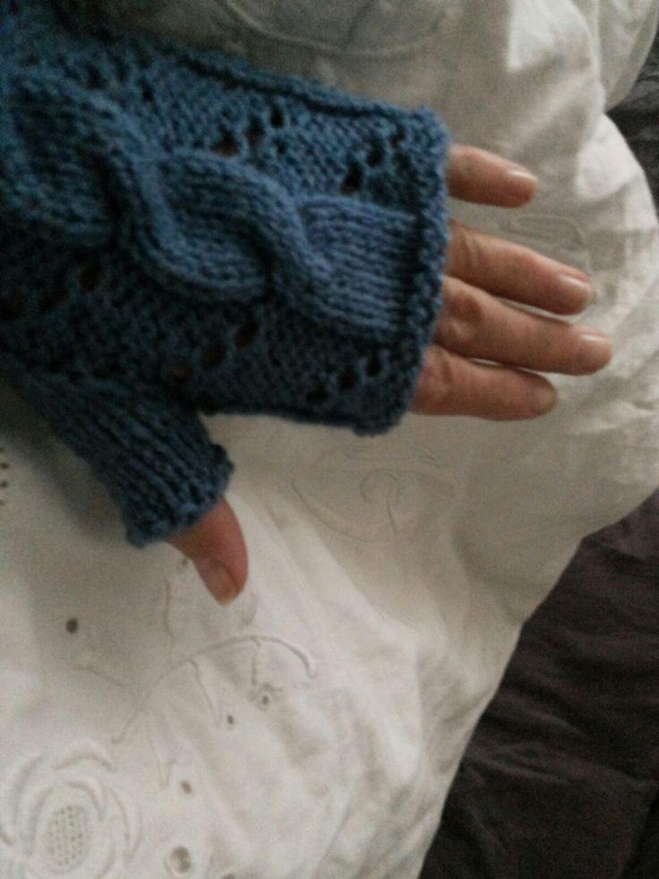 Les mitaines d'Hermione crée par les Sisters in Wool