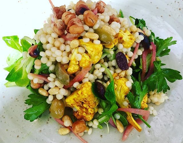 Can we just take a moment to see how lush this couscous salad is? I mean look at those colours and just wait until you taste it. I really like making this salad, you can only find it @herringboneeats. #cheflife #lajolla #myjobrules #lovemyjob #sandiego #restaurants #beachlife #vegetarian #delicious #rawbar #gardemanger #larder #lajollalocals #sandiegoconnection #sdlocals - posted by Khaddy Dublin  https://www.instagram.com/chef_kdubs. See more post on La Jolla at http://LaJollaLocals.com