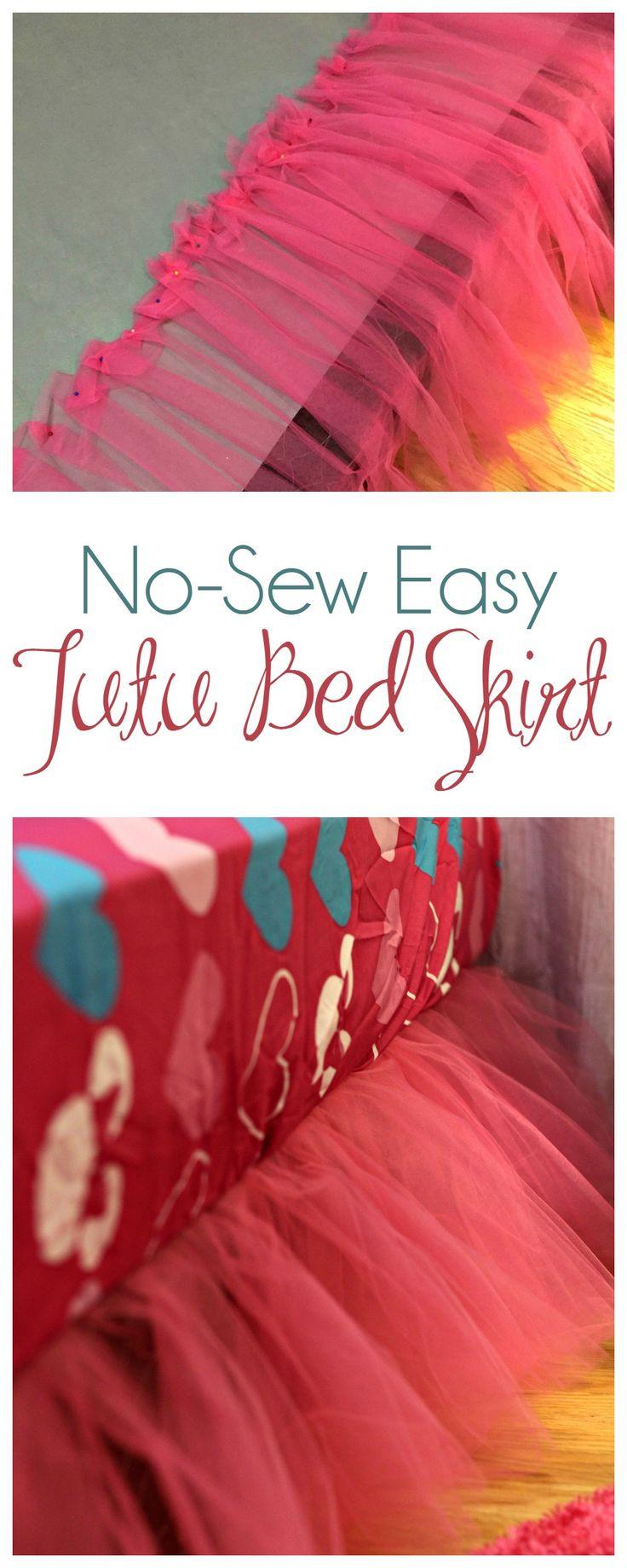 No-Sew Tutu Bed Skirt 9