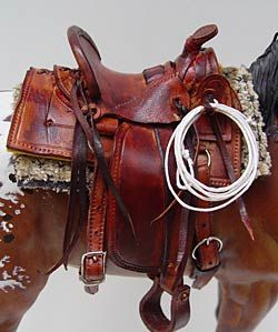 All of Ben's model horse tack is 100% individually handcrafted, making every saddle, bridle or accessory an original creation!