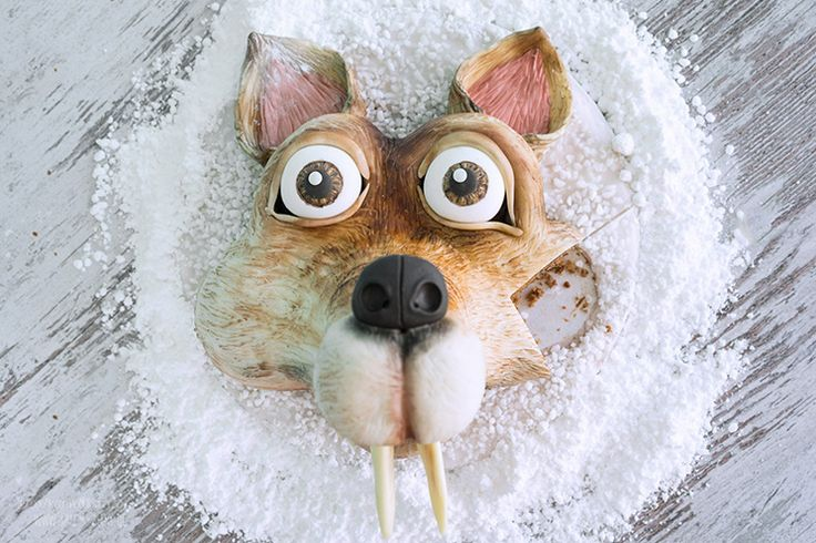 ICE AGE – Kollision voraus 3D Motivtorte Scrat / Fondant Cake