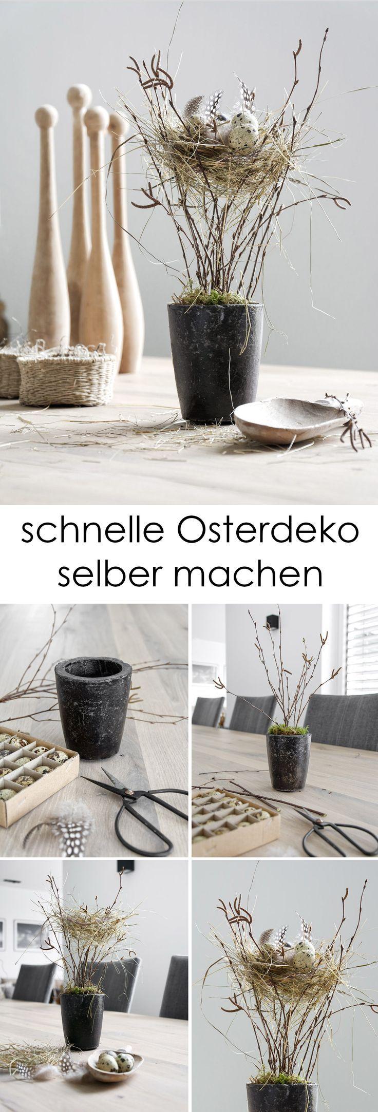 nog steeds een beetje paasdecoratie zelfgenoegzaam? Met een paar restjes heb ik nog …  – Ostern Rezepte und DIY Ideen
