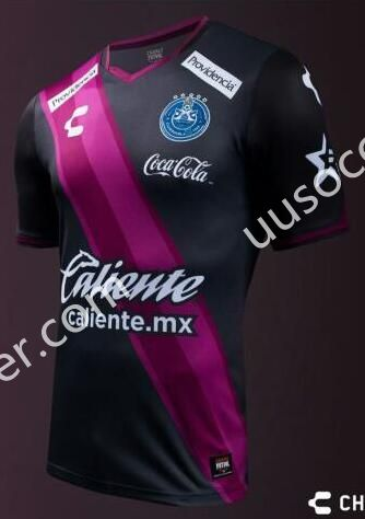 2016-17 Club Puebla Black and Pink Thailand Soccer Jersey AAA