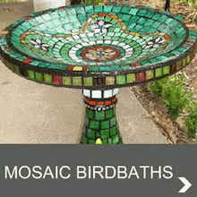 Handmade Mosaic Birdbaths