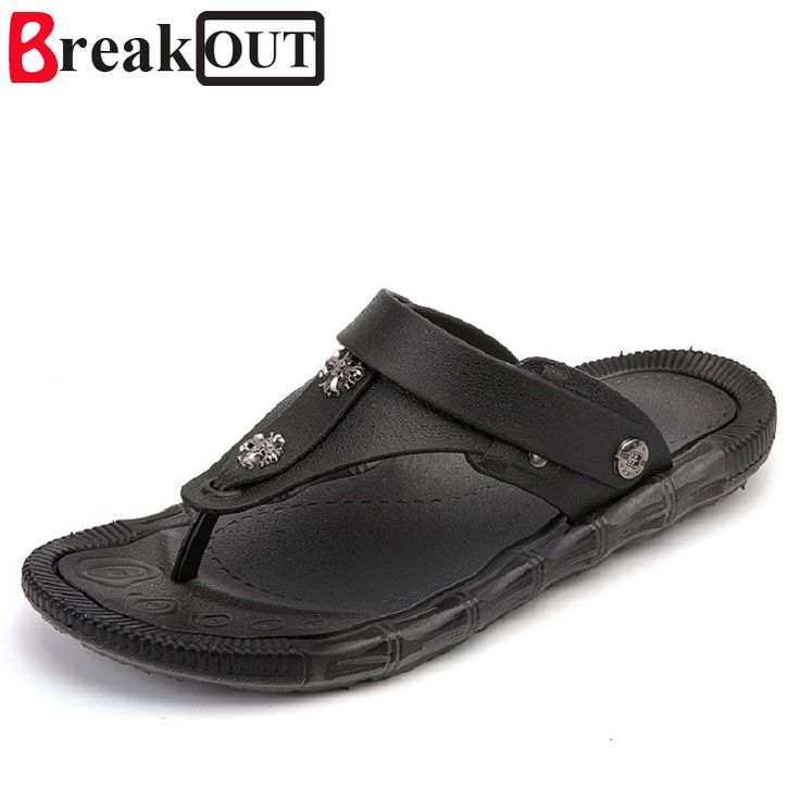 >> Click to Buy << Break Out New Men Sandals Leather Men Flip Flops Casual Shoes for Men Slippers Beach Shoes Summer Style Men Shoes #Affiliate