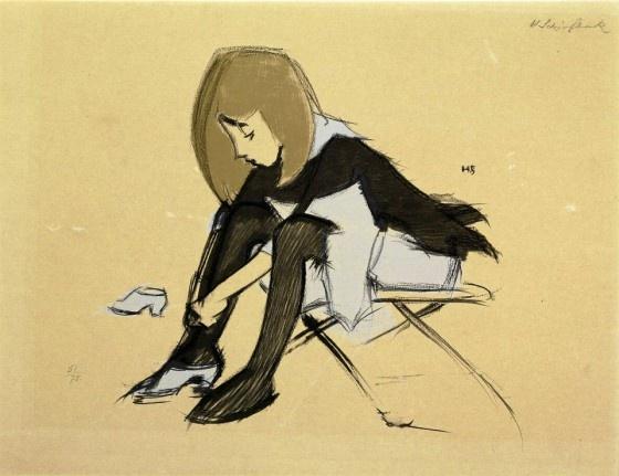 Helene Schjerfbeck: Silkkikenkä (1938)
