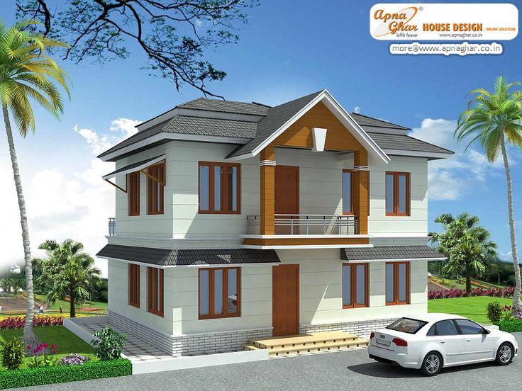 Duplex (2 floor) house design. Area 80m2 (10m X 8m
