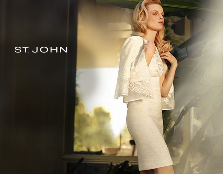 St. John简约典雅服饰,美国精英女性的首选。套裙礼服等低至三折热卖!