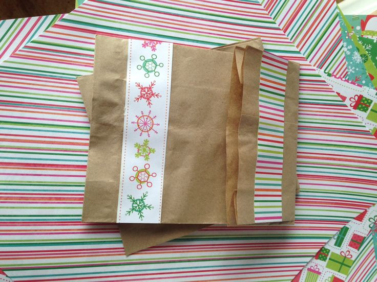 Christmas paper bags! Made with scrap paper leftovers
