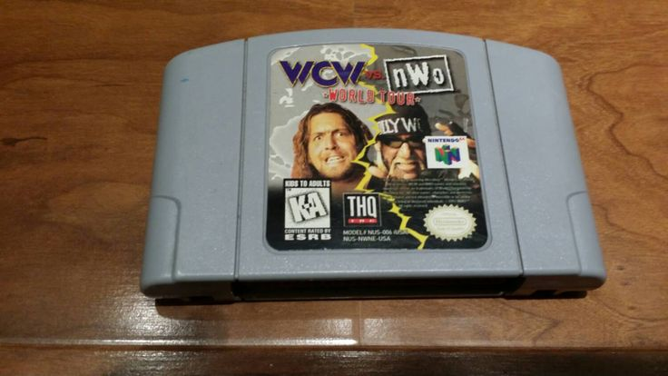 WCW vs NWO wrestling game Nintendo 64 system console video game n64 - pinned by pin4etsy.com