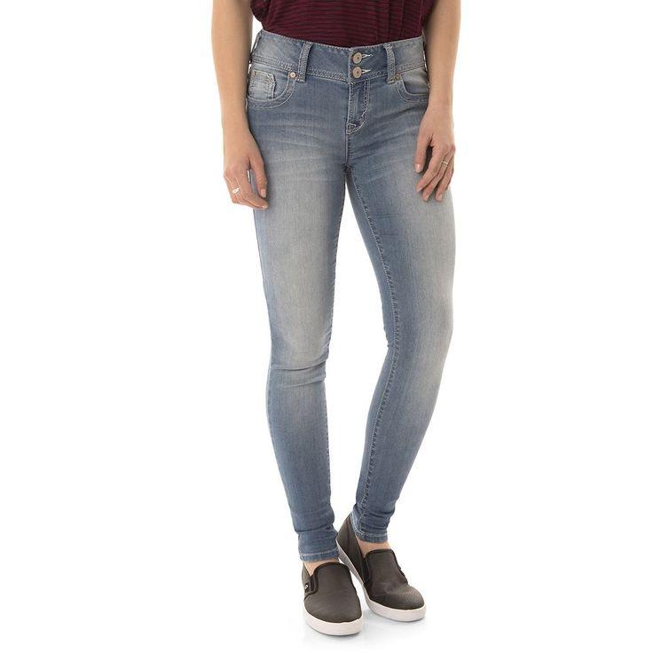 Juniors' Wallflower Faded Super Skinny Jeans, Teens, Size: 17 Short, Brt Orange