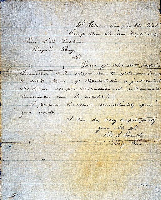 Ulysses S Grant Letters