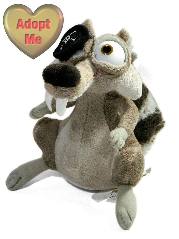 Ice Age 4 Continental Drift Stuffed Plush Scrat Squirrel Animal Pirate 6in #Unbranded