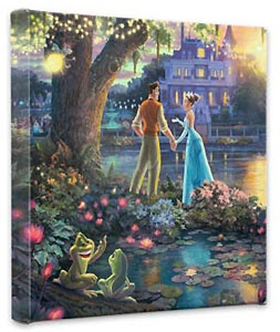 The Princess and the Frog - Gallery Wrapped - Thomas Kinkade - World-Wide-Art.com - $79.00 #Disney #Kinkade