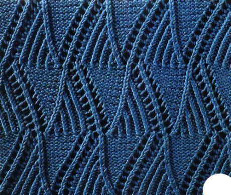 Узоры для вязания спицами. Простые и сложные узоры, ажурные узоры.