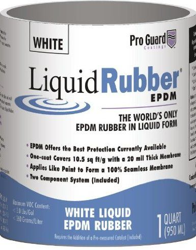 Liquid Rubber ~ White Liquid EPDM Roof Coating ~ 5 Gallons   ~  $280  ~  WELL worth the price tag to prevent & repair RV roofing water leakage & / or damage