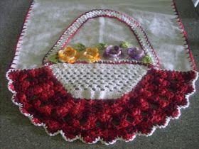 Mãe & Filho: pano de prato com cesta