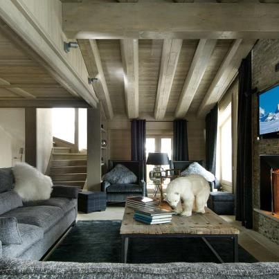 Chalet Interiors with white oak ceilings