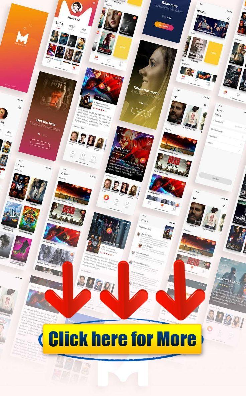 Movies App Free UI Kit Sketch #android #iphone #ios #app