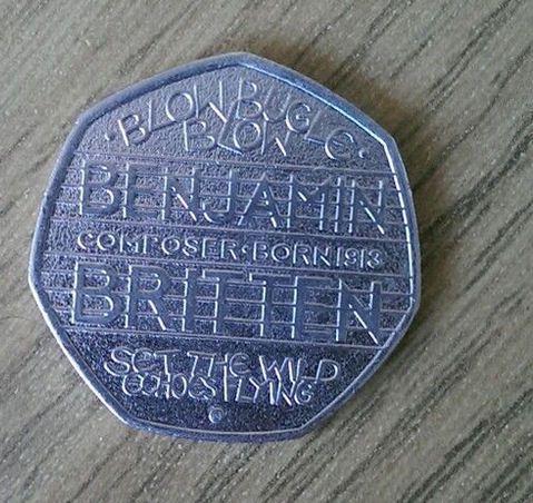 2013 Benjamin Britten 50p
