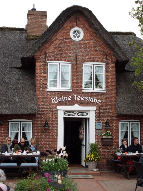 Kleine tea house in Germany, on the island of Sylt.