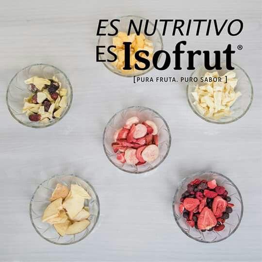 Isofrut es 100% fruta. Prueba las exquisitas variedades que tenemos para ti: Berry Mix, Frutilla, Piña- Uva, Durazno, Frutilla- Plátano y Piña.