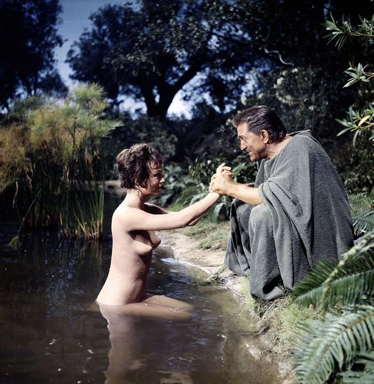 Jean Simmons with Kirk Douglas in Spartacus, 1960