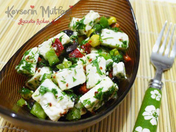 Peynir Salatası Tarifi Nasıl Yapılır? Kevserin Mutfağından Resimli Peynir Salatası tarifinin püf noktaları, ayrıntılı anlatımı, en kolay ve pratik yapılışı.